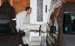 Le corps du jeune Simon Cordier, disparu depuis le 30 décembre dernier, a été retrouvé enterré dans une maison dans le quartier de Fives (Lille, le 17 janvier 2012)