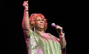 Aretha Franklin lors d'un concert à New York en février 2012.