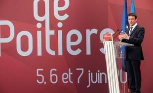 Manuel Valls, lors de son discours au congrès du PS, le 6 juin 2015.