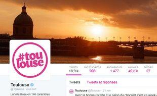 Le compte Twitter de la ville de Toulouse.