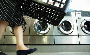 Une laverie à Bruxelles en Belgique.