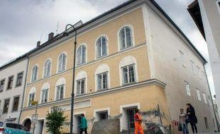 Vue en date du 20 septembre 2012 de la maison natale d'Hitler à Braunau en Autriche