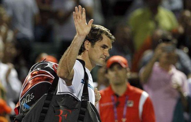 Roger Federer après sa défaite face à Andy Roddick, le 27 mars 2012