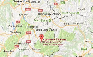 Courchevel, en Savoie.