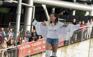 La chanteuse Miley Cyrus au concert One Love Manchester