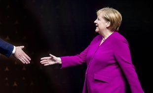Angela Merkel au salon auto de Francfort, le 12 septembre 2019.