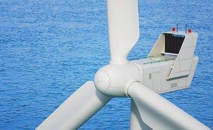 Les éoliennes ne seront pas posées sur les fonds marins mais flotteront. ILLUSTRATION