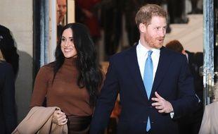 Le prince Harry et sa femme, l'actrice Meghan Markle