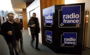 Dans les locaux de Radio France, le 3 avril 2015 à Paris.