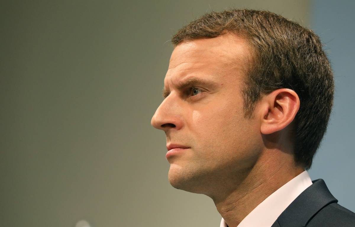 Emmanuel Macron au G20 de Hambourg le 8 juillet 2017. – LUDOVIC MARIN / AFP