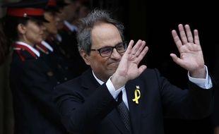Quim Torra lors de son élection à la tête de la Catalogne, le 14 mai 2018.