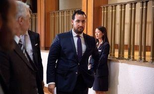 Alexandre Benalla le 19/08/2018 au Sénat./Credit:VILLARD/ZIHNIOGLU/SIA/