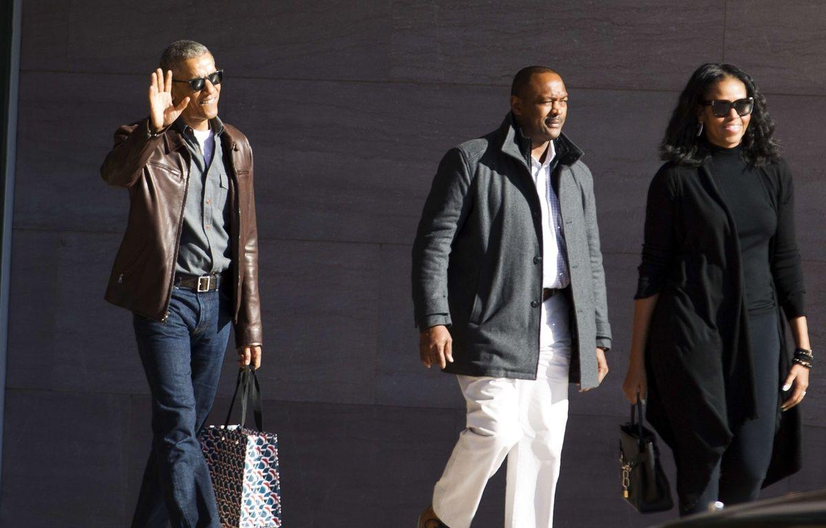 L'ancien président américain Barack Obama et sa femme, Michelle Obama, à Washington, le 5 mars 2017. – Jose Luis Magana/AP/SIPA