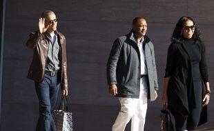 L'ancien président américain Barack Obama et sa femme, Michelle Obama, à Washington, le 5 mars 2017.
