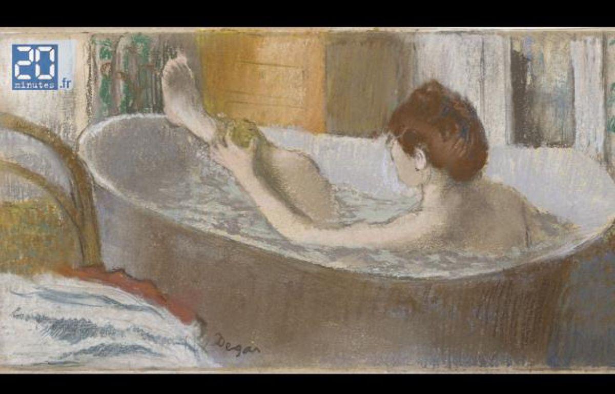 Femme dans une baignoire, de Degas. – no credit