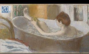 Femme dans une baignoire, de Degas.