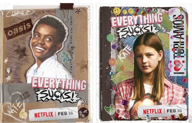 Visuels promos de la série «Everything Sucks!».