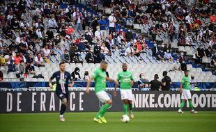Le Stade de France était quasi-vide à l'occasion de la finale PSG-Sainté vendredi.