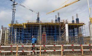 Un stade en construction à Samara, en Russie