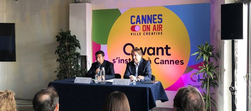 David Lisnard et Eric Leandri, le 21 mai 2019 à Cannes