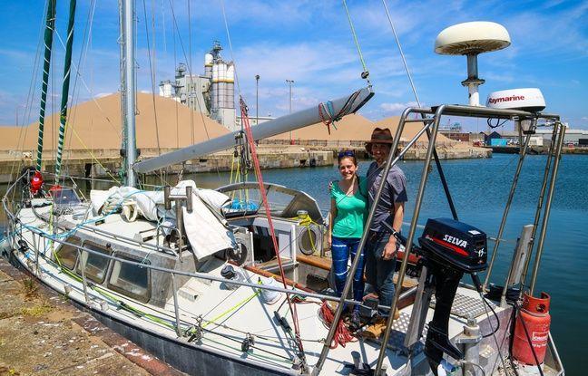 Sophie et Tobias largueront les amarres ce lundi à Saint-Malo.