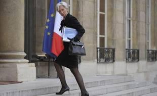 Christine Lagarde arrive à l'Elysée le 18 février 2011.