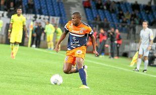Djamel Bakar, auteur de son premier but avec Montpellier.