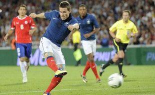 L'attaquant de l'équipe de France Kevin Gameiro, en août 2011 à Montpellier contre le Chili.