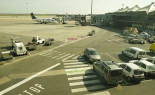 Le tarmac de l'aéroport de Lyon St Exupéry . Illustration.