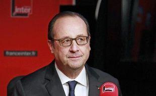 Le président de la République François Hollande, le 5 janvier 2015 au micro de France Inter, à Paris