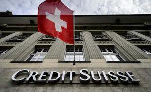 Une enseigne du Crédit Suisse, le 8 mai 2014 à Berne