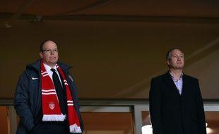 Le Prince Albert et Vadim Vasyliev au Stade Louis-II, le 7 avril 2015.
