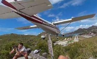 Un touriste a été frôlé par un avion sur l'île de Saint-Barthélémy.