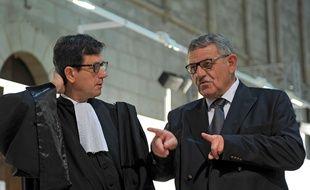 René Marratier, aux côtés de son avocat, à la cour d'appel de Poitiers. AF/ G. Souvant