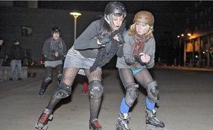 Une vingtaine d'Alsaciennes jouent des coudes au sein des Hell's Ass Derby Girls.