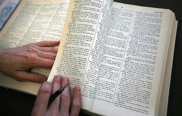 Image d'un dictionnaire. – Al Grillo/AP/SIPA