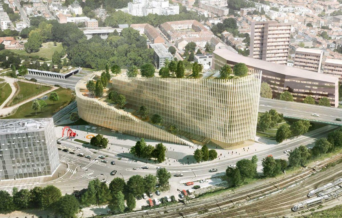 Le bâtiment ShAKe, au bout du triangle Euralille – Agence PCA/Stream