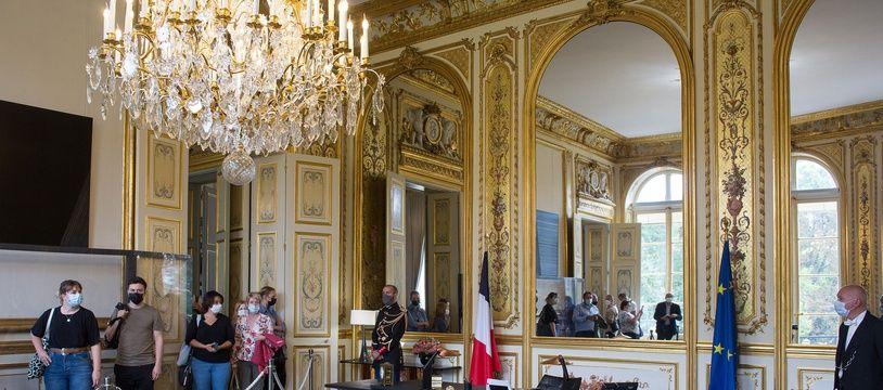 A l'occasion des Journées du patrimoine et malgré la crise sanitaire, le palais de l'Elysée a ouvert ses portes au public.