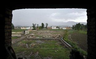 Photo prise le 25 avril 2012 du site où se trouvait le refuge détruit de ben Laden à Abbottabad, au Pakistan