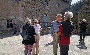 Valery Giscard d'Estaing et son épouse, à Estaing, lors des Journées du patrimoine 2018.