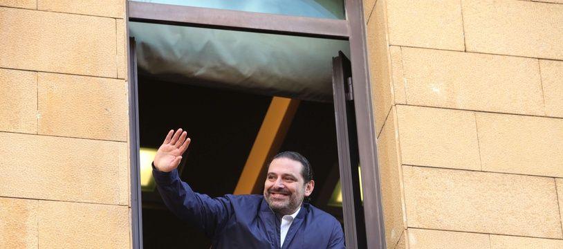 Saad Hariri salue ses partisans à Beyrouth, le 22 novembre 2017.