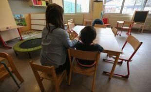 Strasbourg le 5 novembre 2014. Dans la classe de la premiere unite d'enseignement maternelle autisme (UEMA) a l'ecole Ariane Icare au Neuhof.