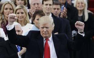Donald Trump lors de son investiture le 20 janvier 2017 à Washington.