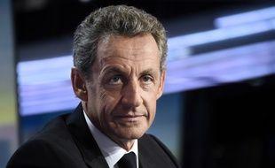 L'ancien président Nicolas Sarkozy, Le candidat à la primaire à droite et du centre, le 24 août 2016 à TF1 à Boulogne-Billancourt.