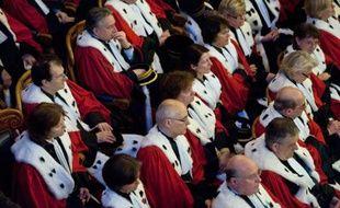 Des Magistrats Lors De La Cérémonie Des Voeux De La Cour Du0027appel De Paris