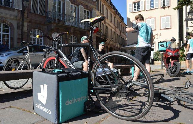 A Strasbourg, les coursiers ont l'habitude de se poser place Saint-Etienne entre deux livraisons.