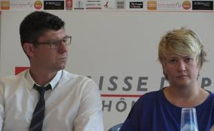 Nicolas Forel et Marina Maljkovic, ici en septembre 2015 lors de la présentation de la saison de Ligue des Lyonnaises.