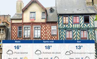 Météo Rennes: Prévisions du mercredi 30 septembre 2020