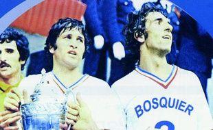 Bernard Bosquier avec le maillot de l'OM.