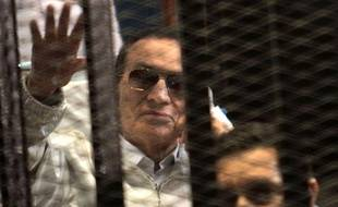 Hosni Moubarak, au Caire le 12 avril 2013.